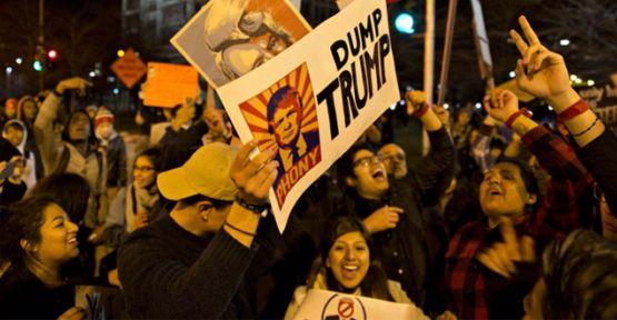 Eylemler Donald Trump'ın seçim mitingini iptal ettirdi