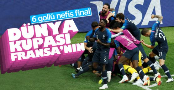 Fransa, Dünya Kupası şampiyonu oldu