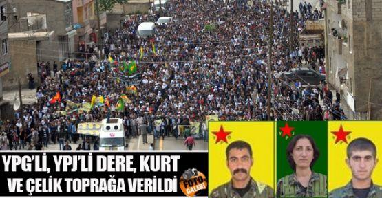 Gever'de YPG/YPJ savaşçılarını onbinler uğurladı