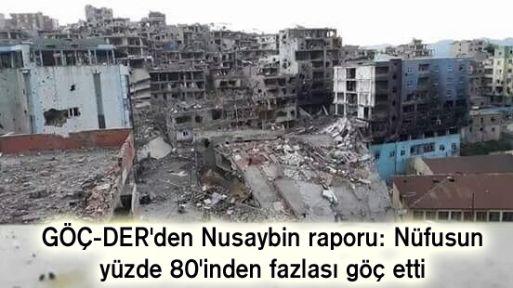 GÖÇ-DER'den Nusaybin raporu: Nüfusun yüzde 80'inden fazlası göç etti -