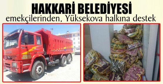 Hakkari Belediyesi emekçilerinden, Yüksekova halkına destek
