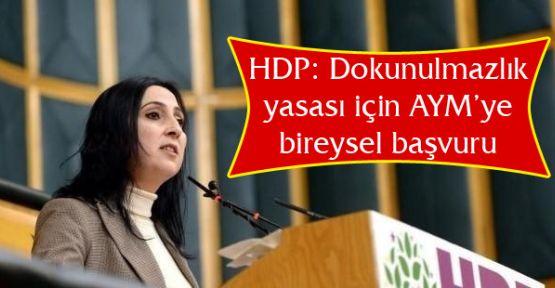 HDP: Dokunulmazlık yasası için AYM'ye bireysel başvuru yapacağız