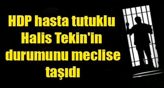 HDP hasta tutuklu Halis Tekin'in durumunu meclise taşıdı