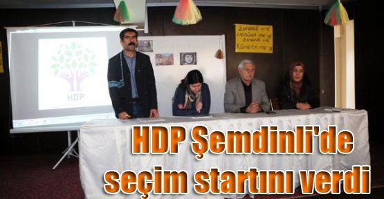 HDP Şemdinli'de seçim startını verdi