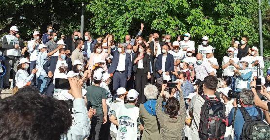 HDP yürüyüşü Ankara'da tamamlandı: Burada bitirmiyoruz