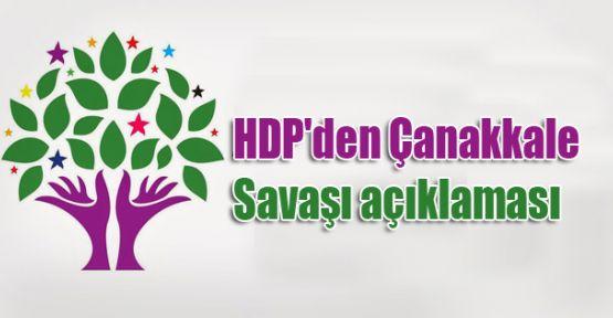 HDP'den Çanakkale Savaşı açıklaması