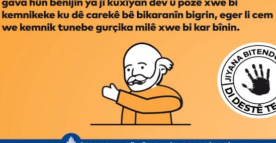 İBB'den korona virüsü için Kürtçe afiş ve anons