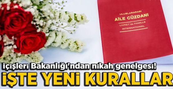 İçişleri Bakanlığı'ndan 81 il valiliğine, 'nikah merasimi' genelgesi