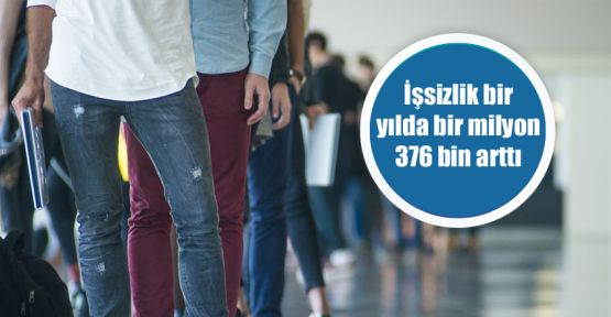 İşsizlik bir yılda bir milyon 376 bin arttı