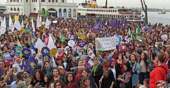 İstanbul'da 8 Mart: Erkek şiddetine karşı ayaktayız, eşit ve özgür bir yaşam için isyandayız