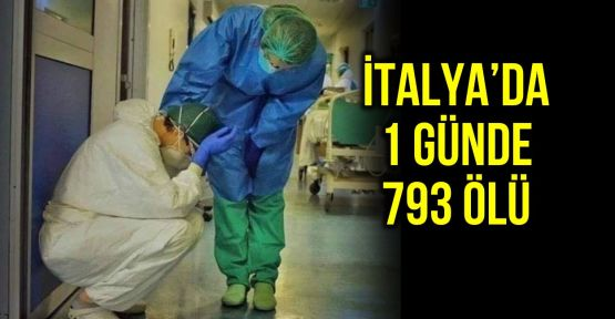 İtalya'da bir günde 793 kişi hayatını kaybetti