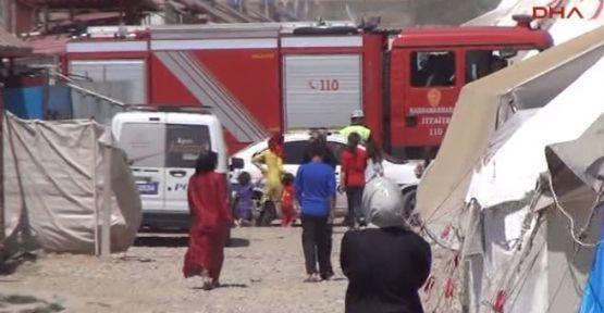 Kahramanmaraş çadır kentinde yangın!... 2 ölü!