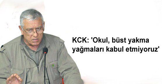 KCK: 'Okul, büst yakma yağmaları kabul etmiyoruz'