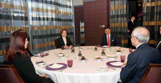 Kemal Kılıçdaroğlu Meral Akşener ile bir araya geldi