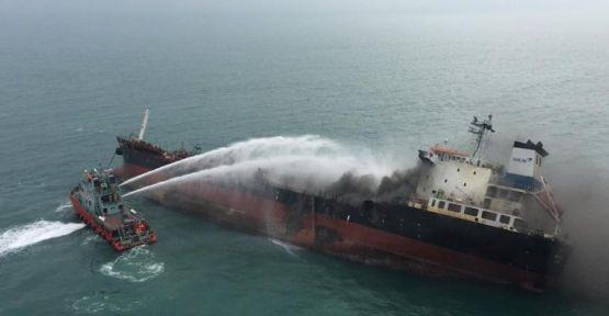 Kerç Boğazı'nda iki gemi alev aldı: 10 kişi öldü