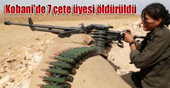 Kobani'nin Güneydoğu cephesinde 7 çete üyesi öldürüldü