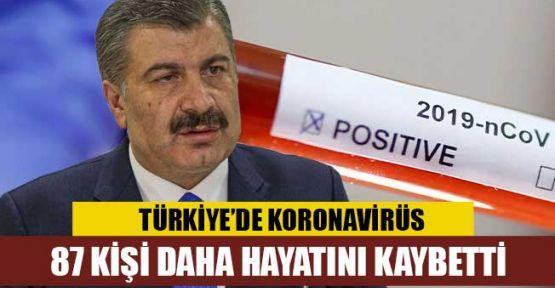 Türkiye'de koronavirüsten ölenlerin sayısı 87 artarak 812'ye yükseldi