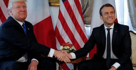 Macron'dan Trump'a 'harekat durdurulmalı' talebi