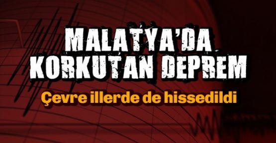 Malatya'da korkutan deprem! Çevre illerden de hissedildi