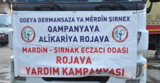 Mardin Şırnak Eczacılar Odası'ndan Rojava'ya ilaç yardımı