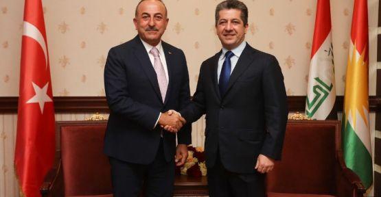 Mevlüt Çavuşoğlu, Mesrur Barzani'yle görüştü