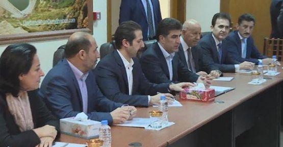 Neçirvan Barzani ile Kubad Talabani deprem bölgesinde