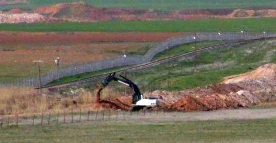 Nusaybin-Kamışlo sınır hattına hendek kazılıyor