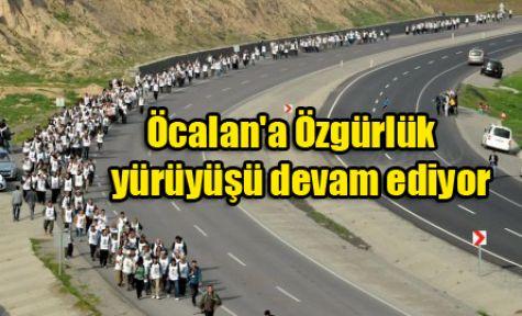 Öcalan'a Özgürlük yürüyüşü devam ediyor