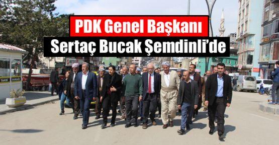 PDK Genel Başkanı Sertaç Bucak Şemdinli'de