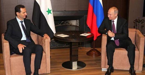 Putin Suriye'de: Esad'la görüştü
