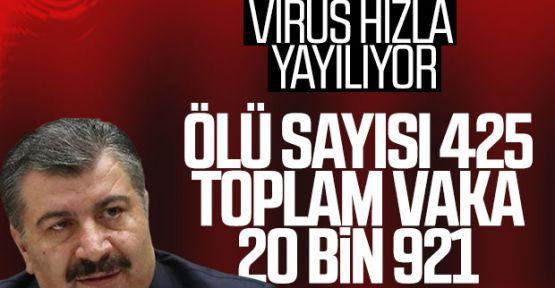 Sağlık Bakanı Fahrettin Koca: Can kaybı 425'e ulaştı