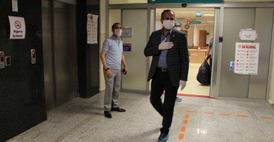 Şemdinli Belediye Başkanı Tahir Saklı, taburcu edildi