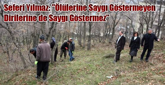 Şemdinli Belediyesi'nden mezarlık temizliği