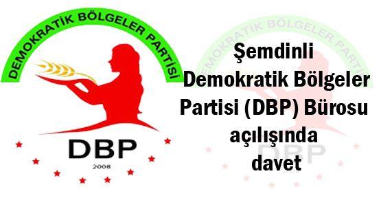 Şemdinli DBP Bürosu açılışında davet