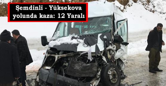 Şemdinli - Yüksekova yolunda kaza: 12 Yaralı