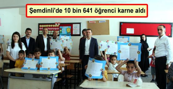 Şemdinli'de 10 bin 641 öğrenci karne aldı