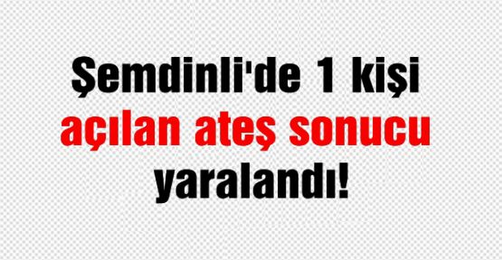 Şemdinli'de 1 kişi açılan ateş sonucu yaralandı