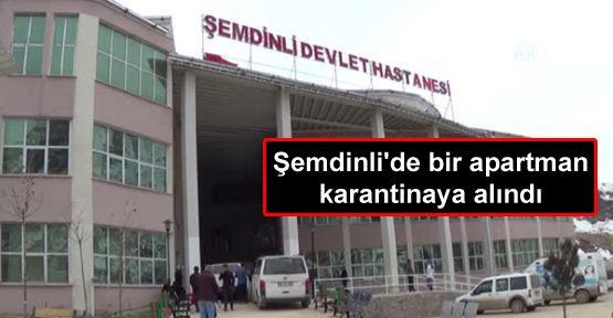 Şemdinli'de bir apartman karantinaya alındı