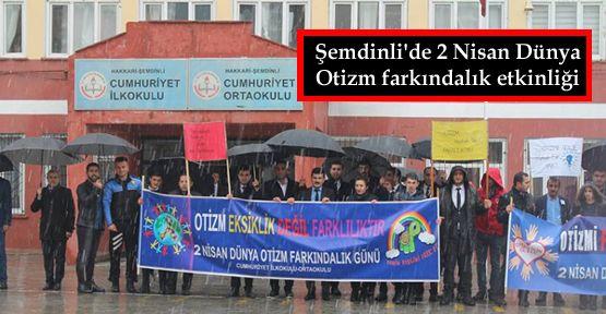Şemdinli'de 2 Nisan Dünya Otizm farkındalık etkinliği