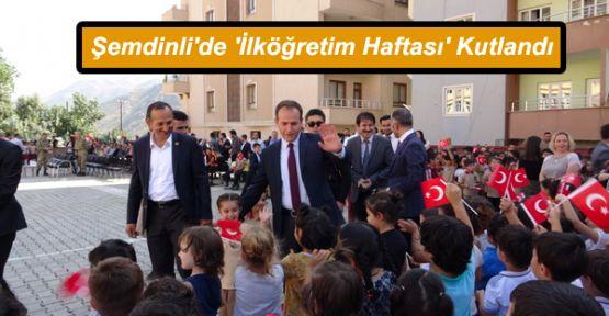 Şemdinli'de 'İlköğretim Haftası' Kutlandı