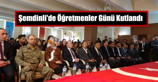 Şemdinli'de Öğretmenler Günü Kutlandı