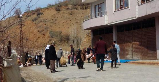 Şemdinli'de yedi köy bir araya gelip kurban kesti