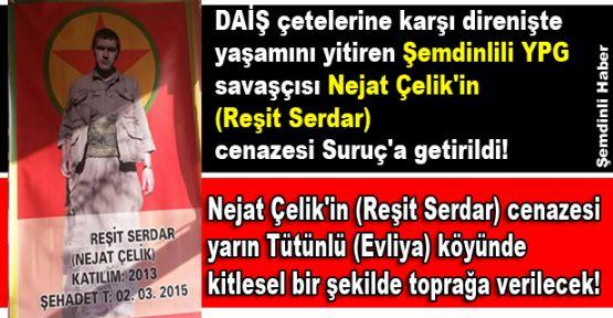 Şemdinlili YPG savaşçısı Çelik'in cenazesi Suruç'a getirildi