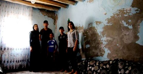 Silopi'de 5 çocuğuyla yaşadığı harabe evden destek bekliyor