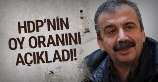 Sırrı Süreyya Önder: HDP'nin oy oranı açıkladı