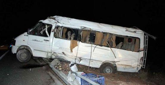 Tarım işçilerini kaza yaptı: 17 kişi yaralandı