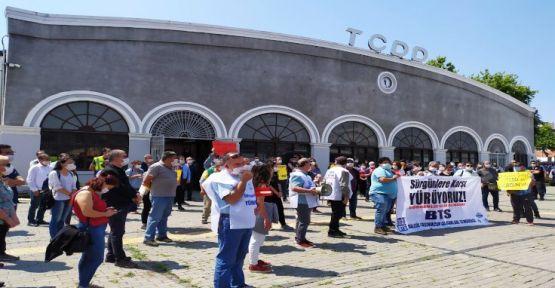 TCDD çalışanları sürgünlere karşı Ankara'ya yürüyor