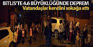 Bitlis'in Hizan ilçesinde 4.6 büyüklüğünde...