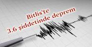 Bitlis'te 3.6 şiddetinde deprem