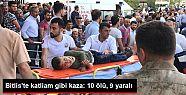 Bitlis'te minibüs şarampole yuvarlandı:...